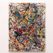 chaotic dream action painting upright