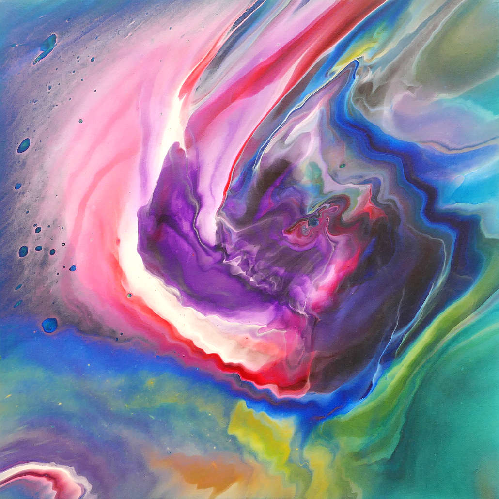 revelations of the universe - fluid painting