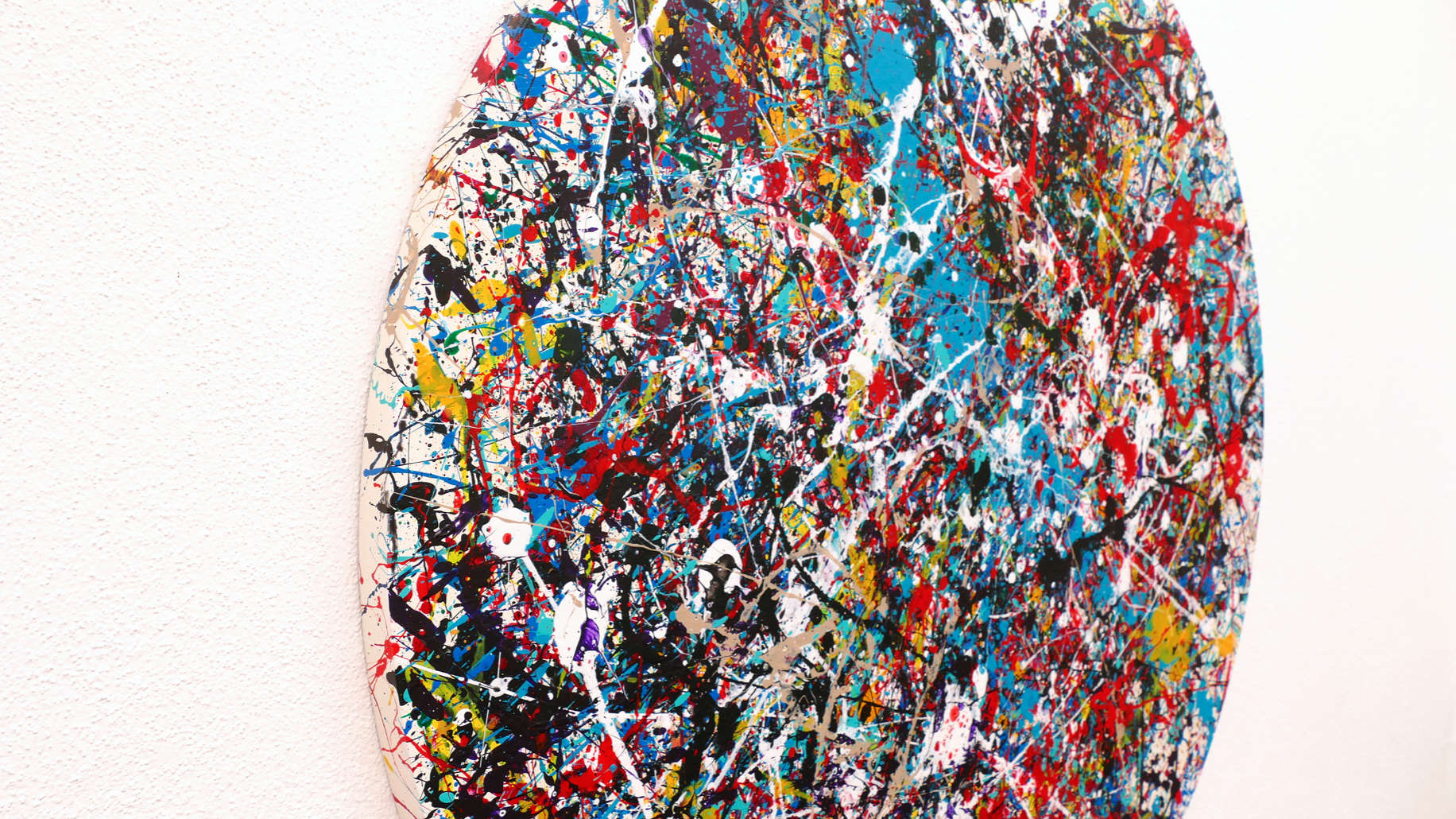 colorful world-action abstract painting-side