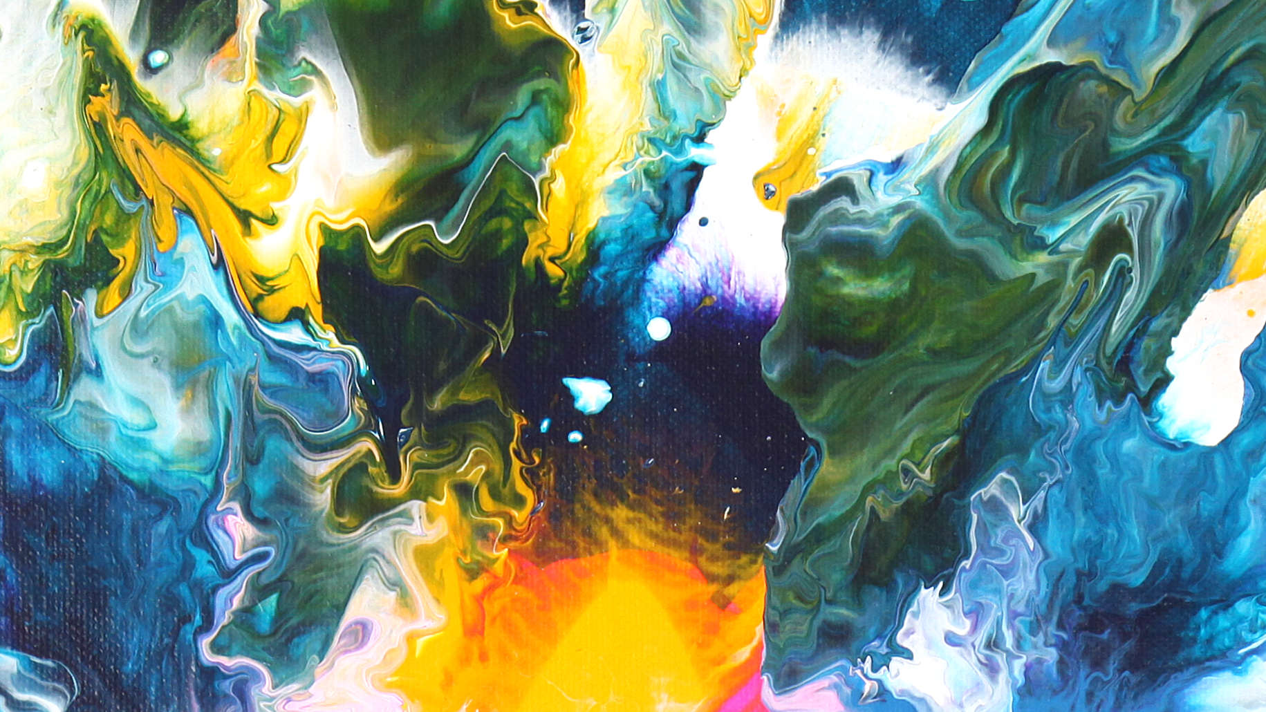 wild water_fluid painting_detail